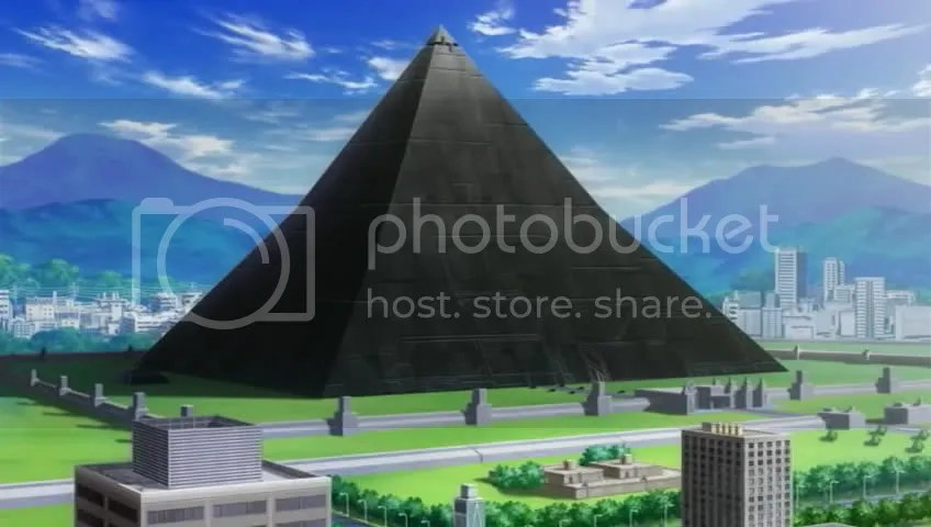 The research facility, the former state of the giant pyramid in the Rakurowa Ruins. Remember NERV?
