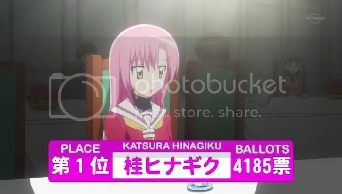 1st Place - Katsura Hinagiku! Winning by more than 2000 votes ahead of the second placer!