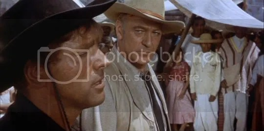 Who can you trust? Burt Lancaster and Gary Cooper in Vera Cruz.