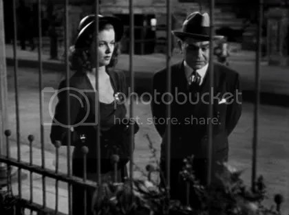 Joan Bennett & Edward G. Robinson behind bars and imprisoned by fate.