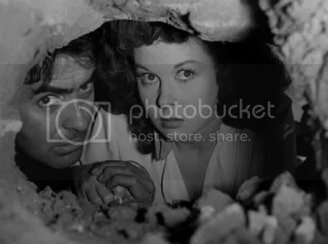 Tyrone Power and Susan Hayward in a tight spot in more ways than one.
