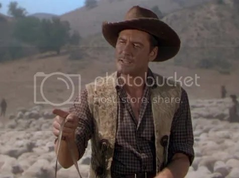 Errol Flynn in Montana - angling for a drink, and who could blame him!