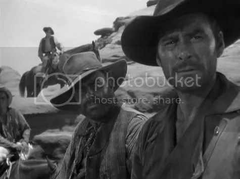 Errol Flynn about to make a fateful decision in Rocky Mountain