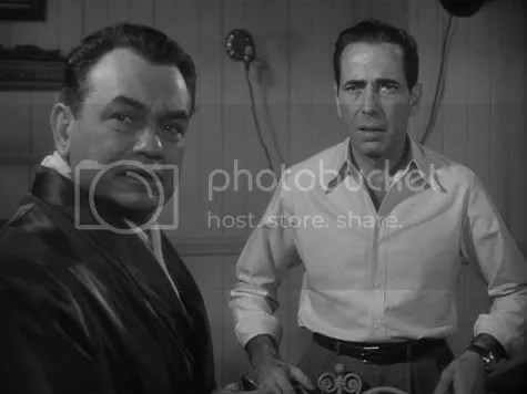 Reunited for one last time - Bogart and Robinson in Key Largo.