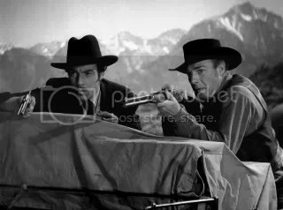 Cesar Romero & Randolph Scott as Doc & Wyatt.