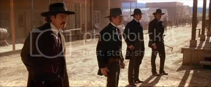 The moment of truth - the Earps and Holliday at the O.K. Corral.