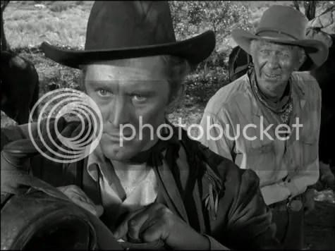 Rattling the skeletons - Kirk Douglas & Walter Brennan in Along the Great Divide.