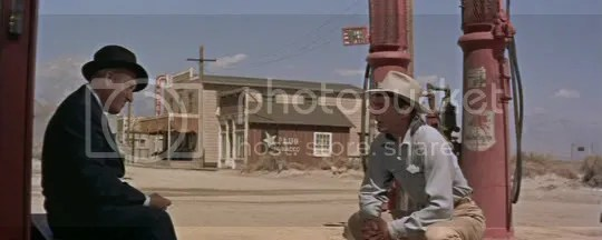 Two big men - Spencer Tracy and Robert Ryan in Bad Day at Black Rock.