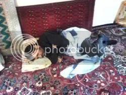 Ahmadi Nejad Sleeping