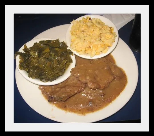 The University area Coffee Cup's Smothered Pork Chops