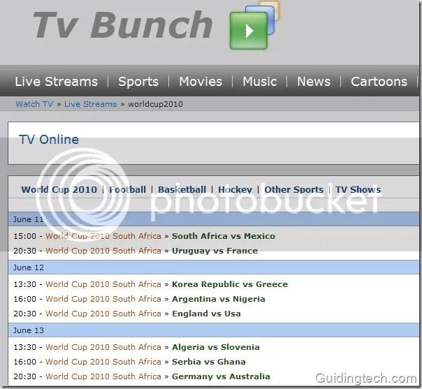 tvbunch Los 10 mejores sitios para ver el mundial por internet