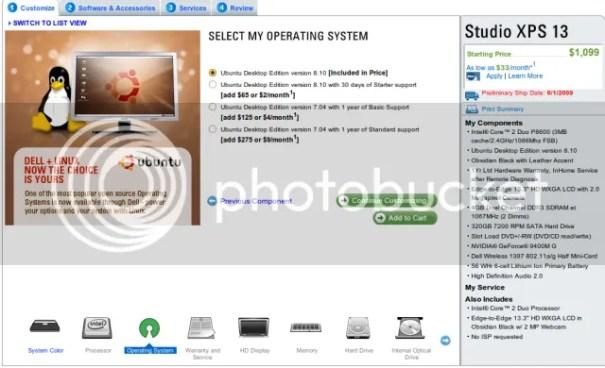 xps13 Dell vende la Studio XPS 13 con Ubuntu