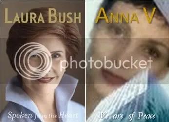 Laura Bush Anna V separated at birth