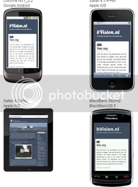 bVision.nl op mobiel