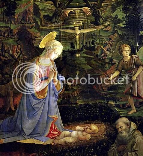 Adoración de Camaldoli. Fra Filippo Lippi. c. 1463. Florencia.