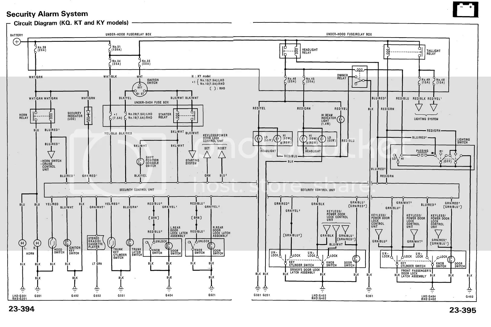 Anyone Have The Wire Diagram For The Factory Alarm Under
