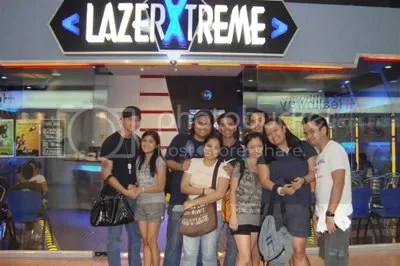 After the Action Packed Game at LazerXtreme