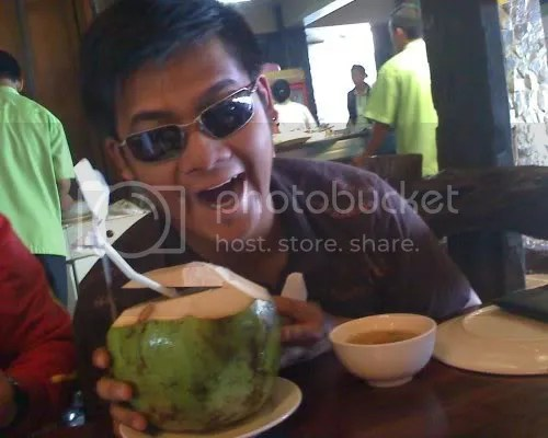 Wazer poses with his Buko Juice