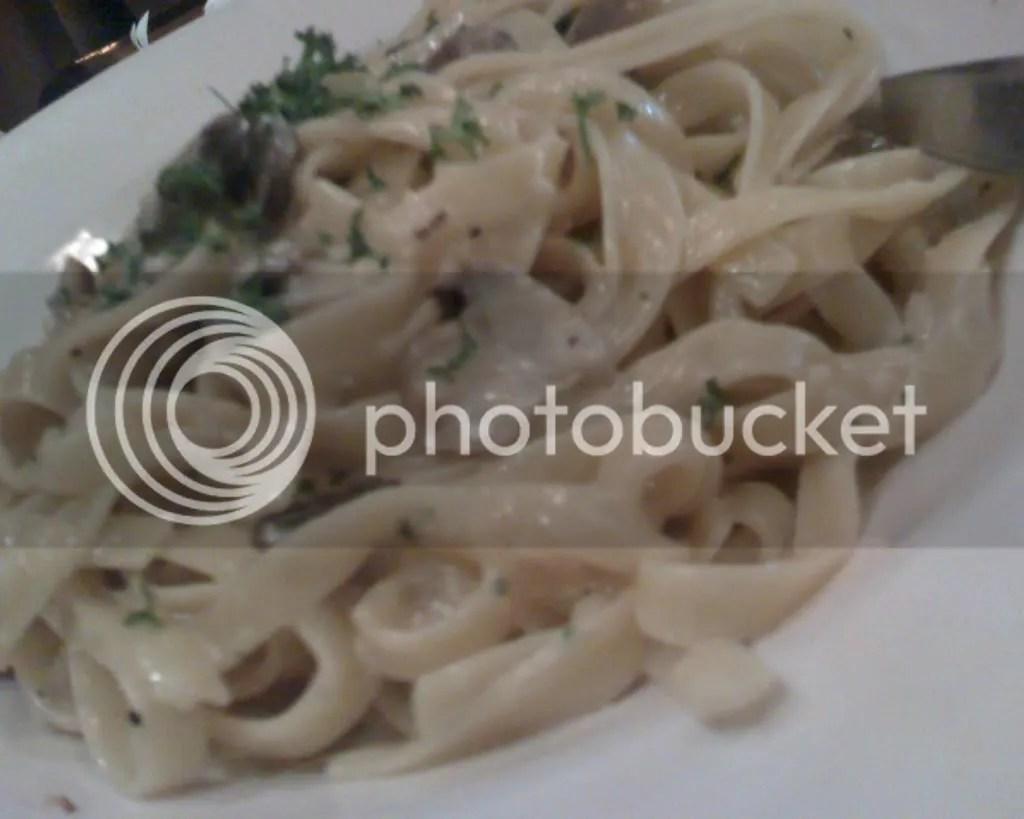 Fettuccine With Garlic Cream Sauce