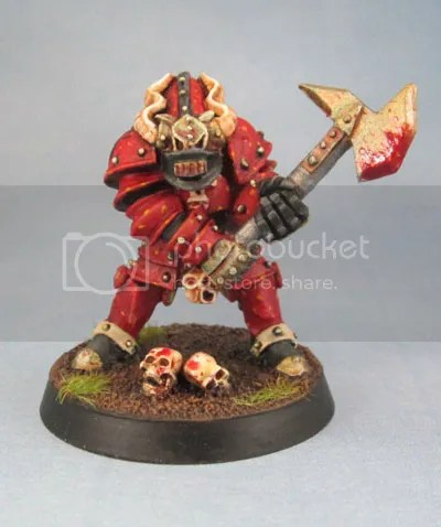 Realm of Chaos Oldhammer Chaos Warrior Champion of Khorne.
