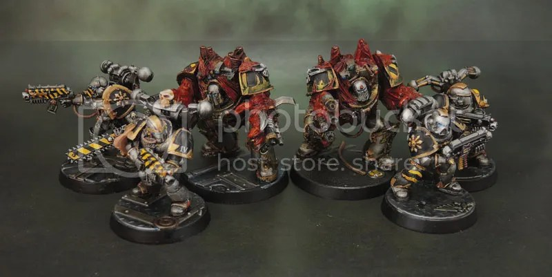 Iron Warriors Obliterators and Chaos Space Marines