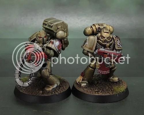 Minotaurs Space Marines, Forge World Minotaurs Shoulder Pad, Anvil Industry Vanguard, Puppetswar Temistokles