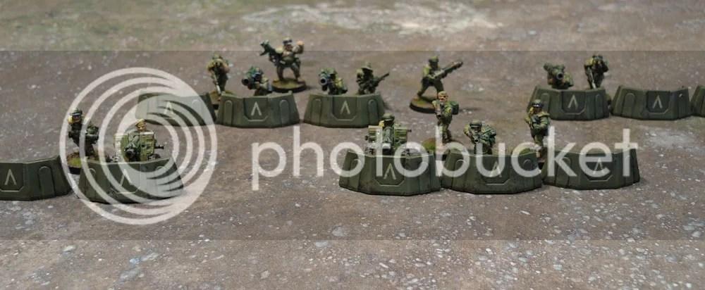 Sedition Wars Terrain Set Barricades, Metal Cadian Imperial Guard