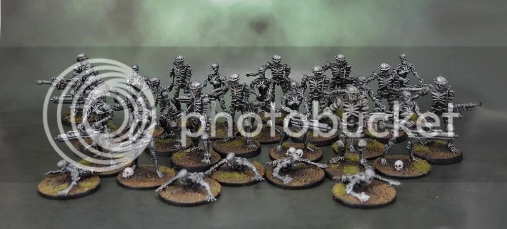 River Horse Teminator Genisys Plastic Endoskeletons, Endoskeleton Crawlers, Legions of Steel Nightmares
