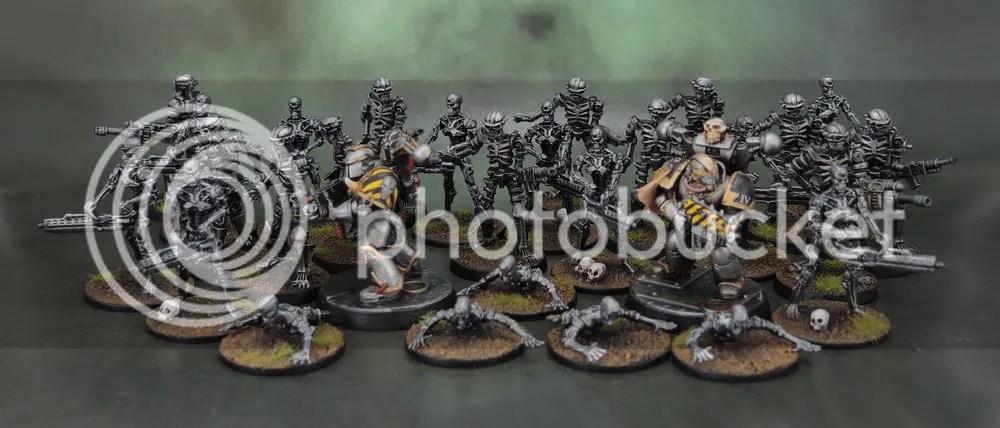 River Horse Teminator Genisys Plastic Endoskeletons, Endoskeleton Crawlers, Legions of Steel Nightmares, Iron Warriors Chaos Space Marines