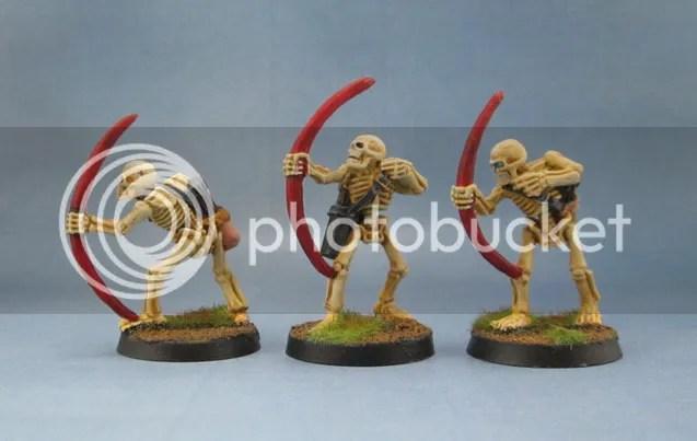 Black Tree Design Skeleton Archers