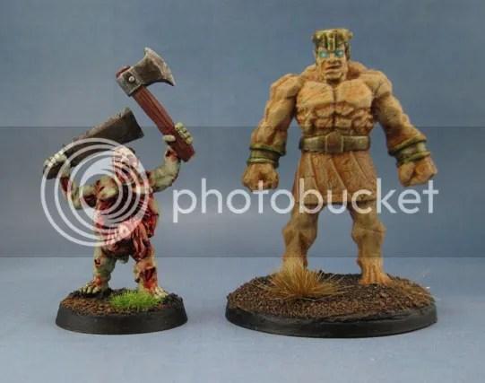 harlequin Zombie Buster Rotvessel, Reaper Bones Stone Golem 77171