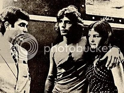 Olha a carinha da Elizângela, ao lado do Pedro Aguinaga e sendo observada pelo Carlos Aquino, o vilão da trama - CLIQUE PARA AMPLIAR ESTA FOTO