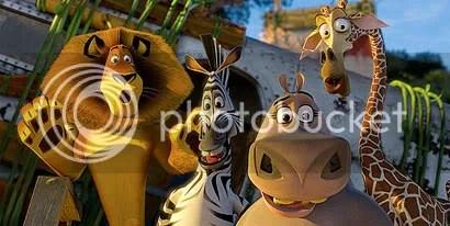 Alex, Marty, Glória e Melman - CLIQUE PARA AMPLIAR ESTA IMAGEM