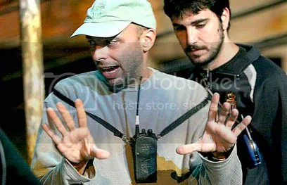 José Padilha no set de filmagem de Tropa de Elite