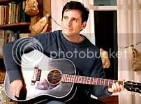 Steve Carell, um banquinho, um violão e a mulher amada - CLIQUE PARA AMPLIAR ESTA FOTO