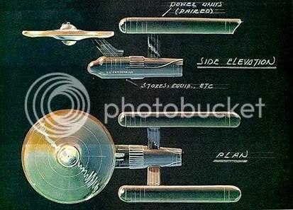Desenho de Matt Jefferies para o projeto da Enterprise - CLIQUE AQUI PARA AMPLIAR ESTA IMAGEM