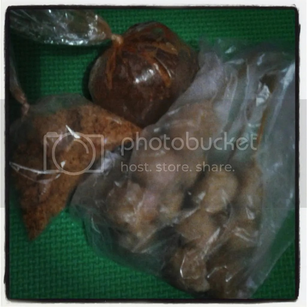 Cilok Goreng + Bumbu Kacang + Bumbu Bubuk