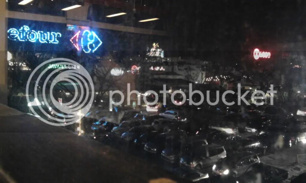 Pemandangan malam PVJ dari RF