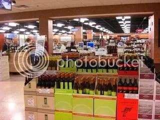 Wegmans entire 1st flr is a wine shoppe