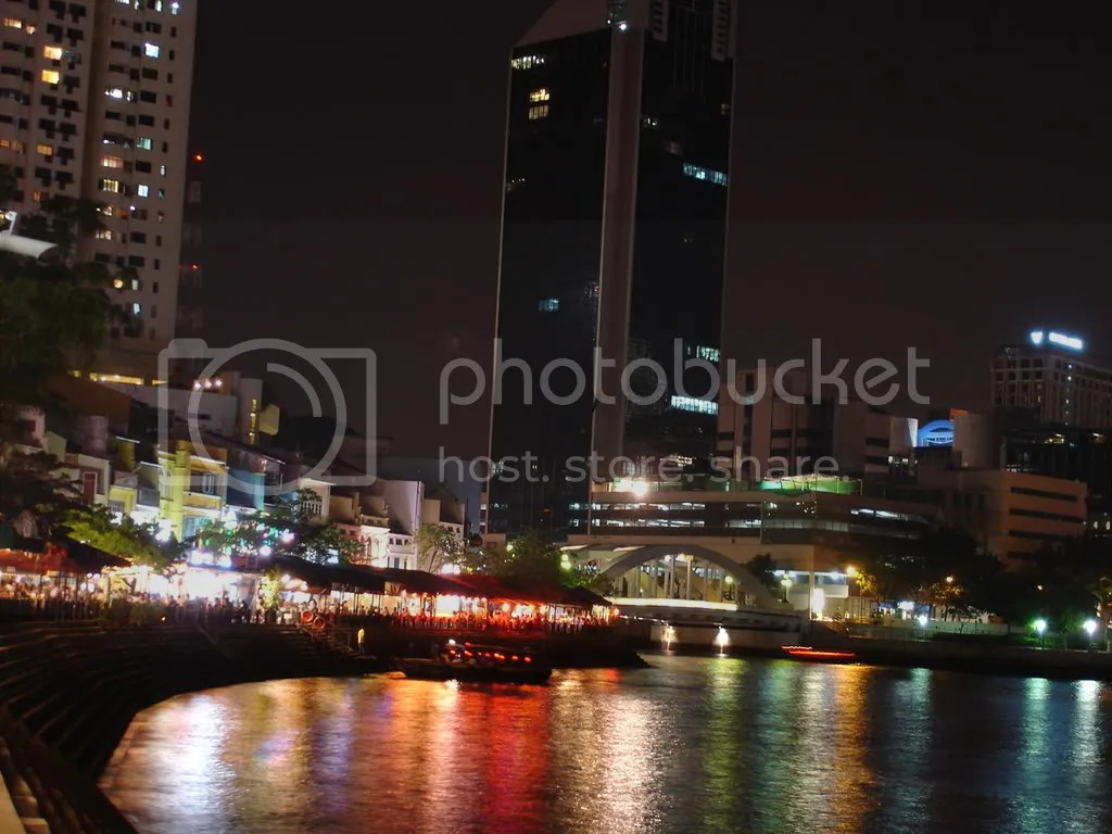 The Boat Quay by Night