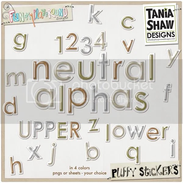 Neutral Puffy Sticker Alpha