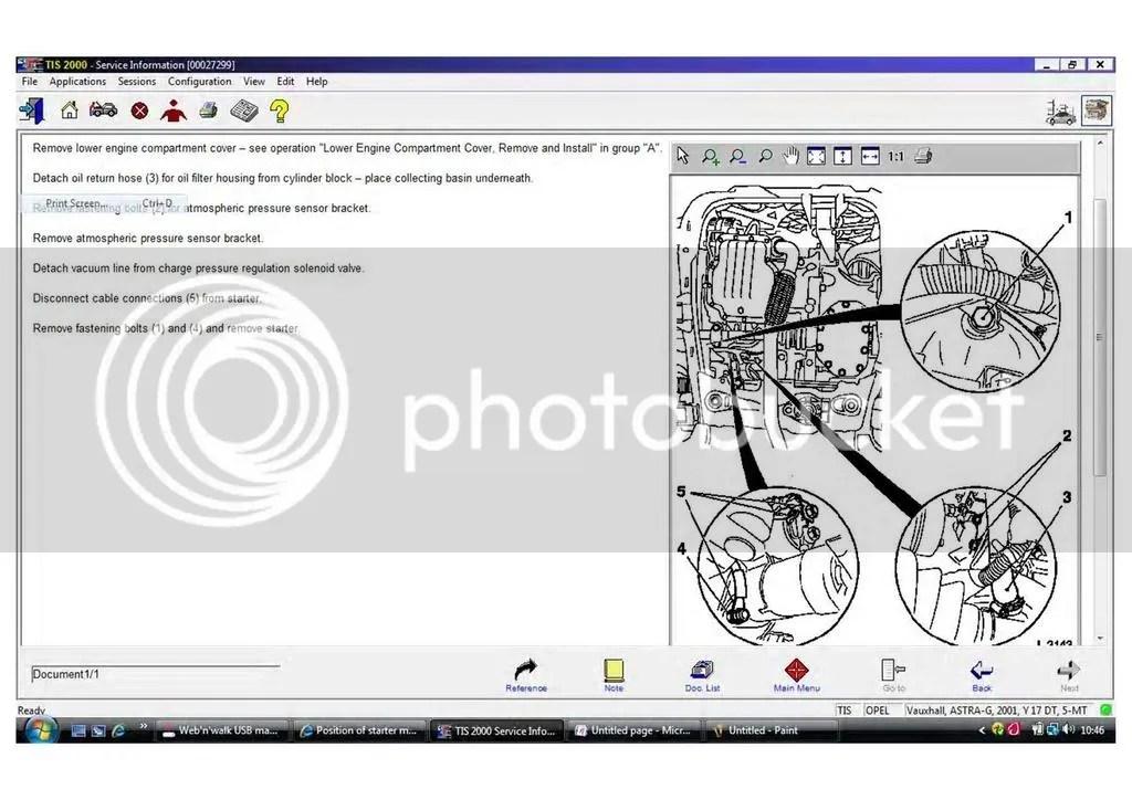 How To Remove Starter Motor Vauxhall Zafira