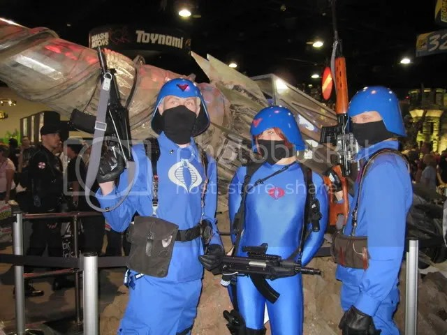 While the male members of Cobra are issued standard uniforms, the females are issued spandex uniforms.  Why?  Because thats the way Cobra Commander wants it.