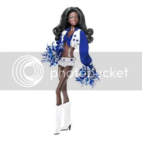 Black Barbie as Dallas Cowboys Cheerleader
