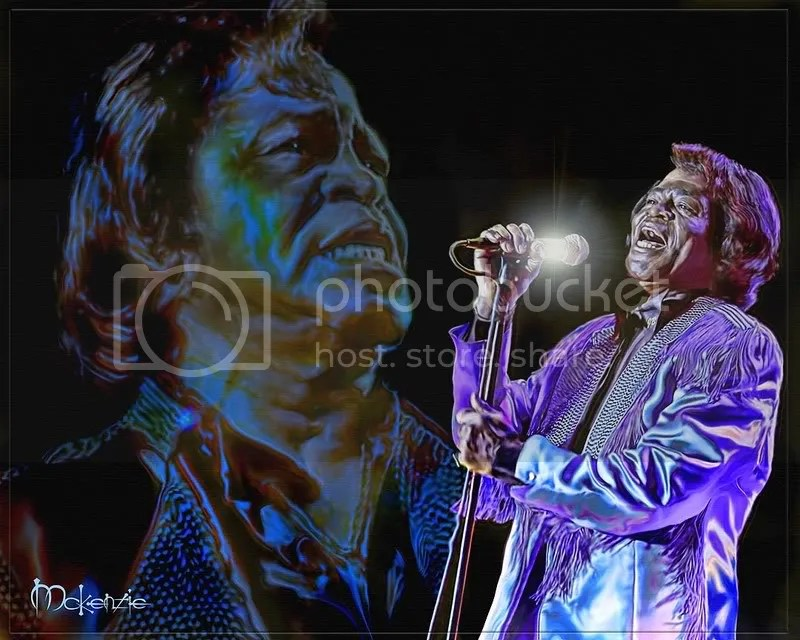 Artist McKenzie paints James Brown for Charity