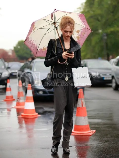 Great rain outfit.