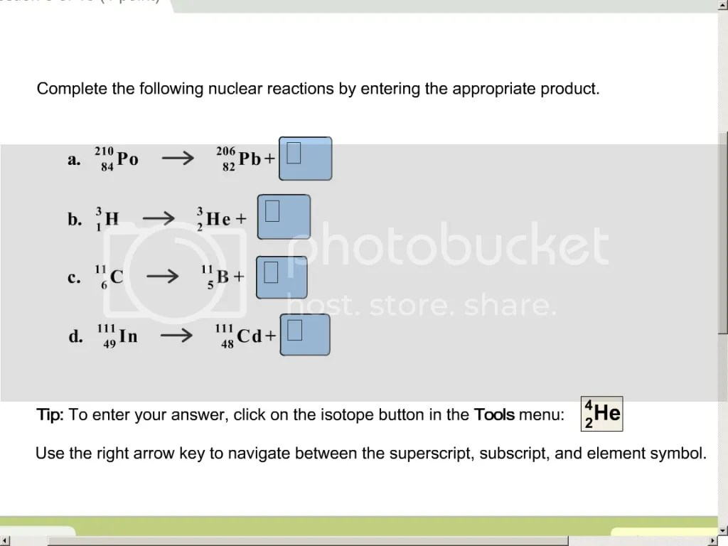 Solved Complete The Following Nuclear Reactions By Enteri