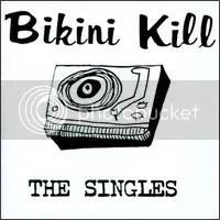 Pochette de l'album 'The Singles' de 'Bikini Kill'.