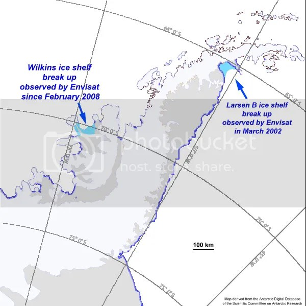 Antarctica Peninsula Map