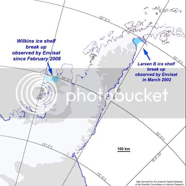 Antarctica Peninsula Map